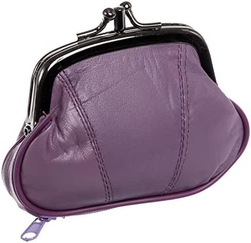 100% Leather Change Purse with Clasp